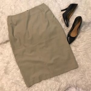 Tahari Khaki Pencil Skirt Size 4